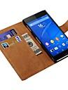 cuir véritable de cas complète du corps avec des fentes de cartes pour Sony Xperia Z3 (couleurs assorties)