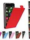 Para Capinha Nokia Flip Capinha Corpo Inteiro Capinha Cor Única Rígida Couro PU Nokia Nokia Lumia 830