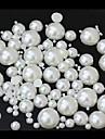 1000PCS Mixs Size White Flatback Semicircle Pearl Gems Handmade DIY Craft Material