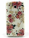 Rose Pattern TPU Soft Back Cover for Samsung  Galaxy Core 2 G3556D