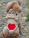 Собака Костюмы Толстовки Одежда для собак Очаровательный Косплей Медведи Серый Коричневый