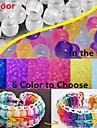 100шт уф цвета изменяя 6x8mm пони шарики для радуги ткацкий станок резинками поделки браслет