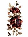 #(1) Tatouages Autocollants Séries de fleur Motif Paillettes ImperméableHomme Femelle Adulte Adolescent Tatouage TemporaireTatouages