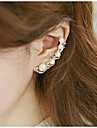 Punhos da orelha Pérola Strass Liga Prata Dourado Jóias Para Casamento Festa Diário Casual Esportes
