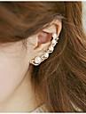 Ear Cuffs Pearl Rhinestone Alloy Silver Golden Jewelry Wedding Party Daily Casual Sports