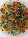 600pcs perles multicolores artisanat poney 2mm main bricolage accessoires matériel / vêtements
