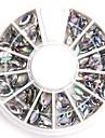 formats mixtes strass acryliques de cristal d'art ovale à ongles transparent pailleté faux diamant pour la conception des ongles