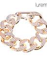 Lureme®Gold Plated Acrylic Knocking Glaze Chain Bracelet