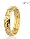lureme®alloy anneau de modèle Gravure des Écritures (couleurs assorties)