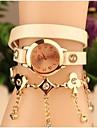 여성의 패션 가죽 일본 쿼츠 시계를 연결 (모듬 색상)