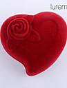 lureme®textile joyero rojo en forma de corazón hecho