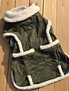 Коты Собаки Плащи Жилет Зеленый Одежда для собак Зима Однотонный На каждый день