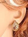 Lureme®Hollow Waterdrop Shape Crystals Earrings