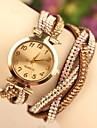 Женские Модные часы Кварцевый Японский кварц Кожа Группа Черный Белый Синий Коричневый марка