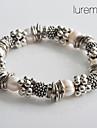 moda pulseira jóias prateado pérola do lureme® para mulheres
