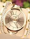 Mulheres Relógio de Moda Quartzo PU Banda Boêmio Branco Verde Dourada Amarelo Roxo Amarelo Café Verde