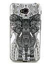 Elephant Lattice  Pattern TPU Soft Back Cover for LG L90