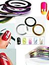 12PCS 12 색 스트라이핑 테이프 라인 네일 스트라이프 테이프 네일 아트 장식 스티커