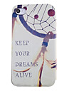 Keep Dream Alive Dream Catcher Pattern Leather Full Body Case with Card Slot for iPhone 4/4S
