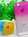 l'eau transparente monochromatique cas de retour de couverture pour iphone 5 / 5s (de couleurs assorties)