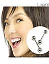 prata de aço inoxidável das mulheres banhado umbigo / perfuração da orelha