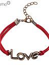 lureme®love modèle en cuir de l'amour en alliage bracelet de charme de modèle