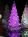 кристалл Рождественская елка свет красочный привело ночь свет небольшое дерево лампа