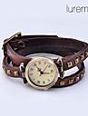 Женские модные аналоговые кварцевые часы-браслет с ремешком из кожзама (разные цвета)