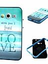 Для Кейс для  Samsung Galaxy Защита от удара / С узором Кейс для Задняя крышка Кейс для Слова / выражения TPU Samsung Core 2