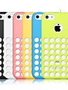Solid Color Silicone Case with Holes in the Back for iPhone 5C (Assorted color)