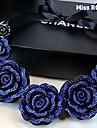미스는 유럽과 미국의 빈티지 블루 수지 목걸이 장미 rose®
