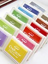 selos inkpad para o ofício de papel tecido impressão digital pintura recados 12 cores
