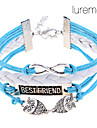 Lureme®Double Owl Infinite Friendship Braided Bracelet