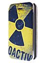 dangereux modèle en cuir de symbole cas de tout le corps avec fente pour carte pour iPhone 4 / 4S