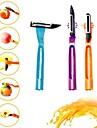 4 в 1 многофункциональный вращающийся Нержавеющая сталь фруктовых растительный нож (случайный цвет)