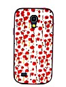 Для Кейс для  Samsung Galaxy Защита от удара / С узором Кейс для Задняя крышка Кейс для Цветы PC Samsung S4 Mini