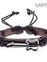 lureme®unisex скрипка ткани кожаный браслет (случайный цвет)
