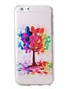 arbres colorés et motif de ballon TPU souple pour iPhone 6