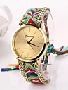 Women's Big Circle Dial Strap Watch National Hand Knitting Brand Luxury Lady Watch C&D-275 Cool Watches Unique Watches