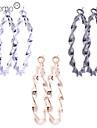 Earring Hoop Earrings Jewelry Women Daily Alloy Gold / Black / Silver
