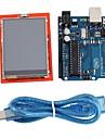 """아두 이노에 대한 우노 R3 보드 모듈 + 2.4 """"의 TFT LCD 터치 스크린 방패 확장 보드"""