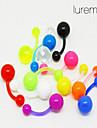 lureme®colorful perçage acrylique nombril / oreille (couleur aléatoire)
