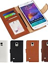 PU Leather Full Body Case with Card Slot and Wallet and Stand for Samsung Galaxy Note 4 (Assorted Colors)