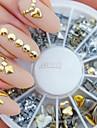 240pcs nail art rebite misto de ouro molda strass acrílico