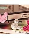 кристалл Микки глава 3.5 мм разъем для смолы наушники для iPhone / IPad и других (случайный цвет)