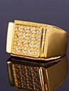 Anéis Meio Dedo Anéis Grossos Zircônia cúbica Zircão Zircônia Cubica Pedras dos signos Prata Dourado JóiasCasamento Festa Diário Casual