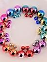 серьги красочные двусторонний жемчужина шпилька серьги двухсторонняя серьги с двухсторонней носить 9 цветов жемчужные серьги для женщин