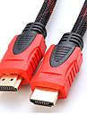 Юн wei® 2м 6.56ft HDMI v1.4 3D 1080p между мужчинами высокоскоростного кабеля