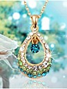 Women's Pendant Necklaces Crystal Drop Rhinestone Alloy Fashion Costume Jewelry Jewelry For Wedding Party Daily Casual