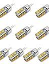 3W G4 LED лампы типа Корн T 24 SMD 2835 260 lm Тёплый белый / Холодный белый Декоративная DC 12 V 10 шт.